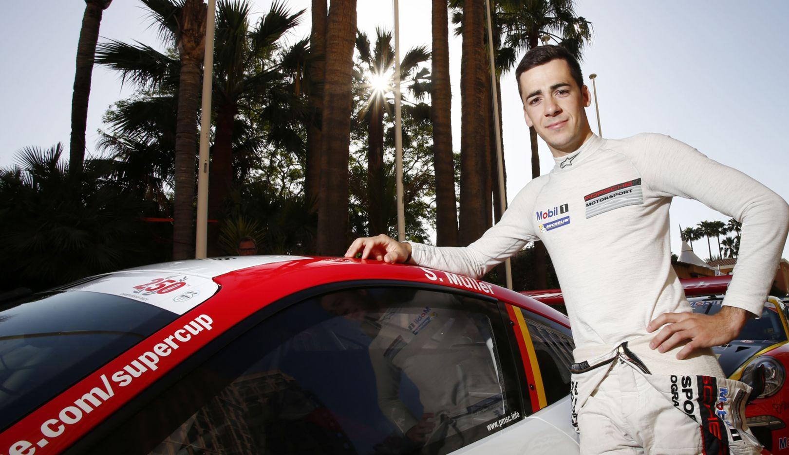 Sven Müller, doppelter Meister, Porsche Mobil 1 Supercup, Monaco, 2016, Porsche AG