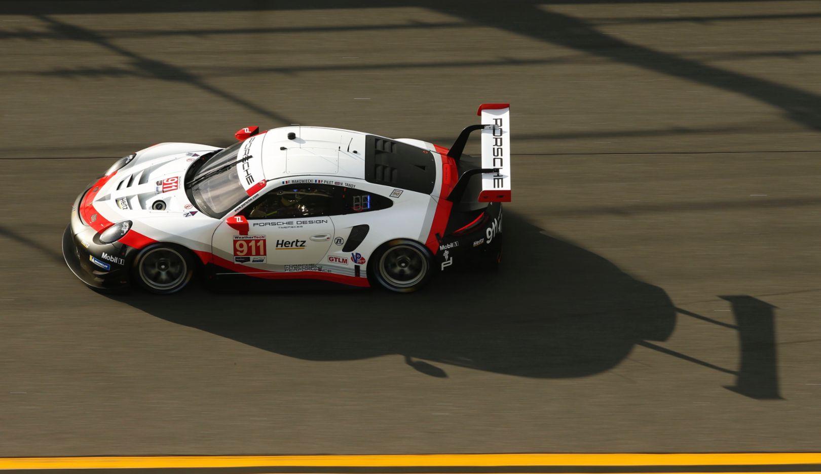 911 RSR, Porsche GT Team, IMSA WeatherTech SportsCar Championship, Test, Daytona, 2019, Porsche AG