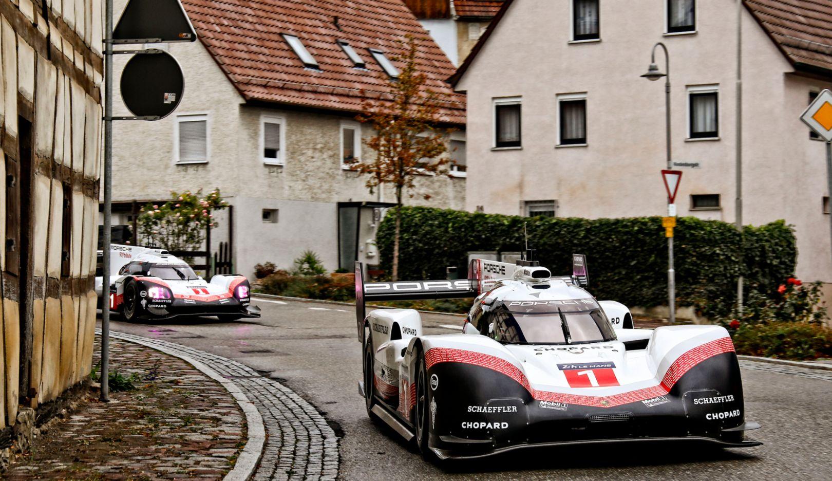 Porsche 919 Hybrid Evo (in front), Porsche 919 Hybrid, 2018, Porsche AG