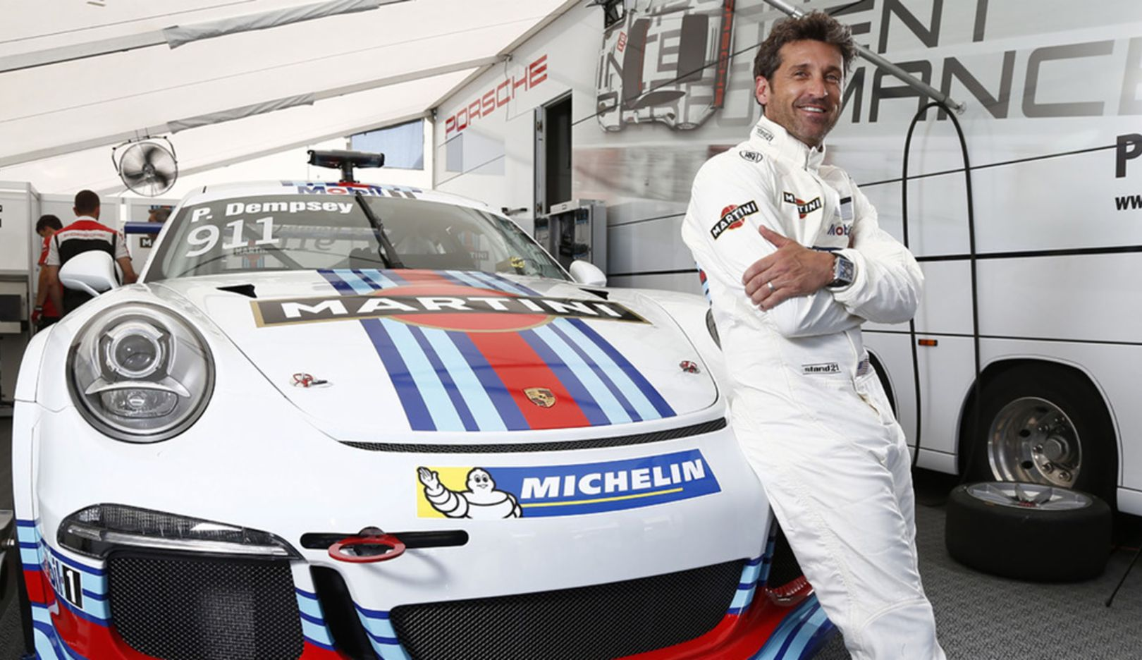 Patrick Dempsey, 2014, Porsche AG