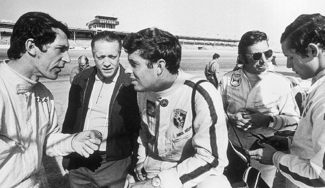Vic Elford, Brian Redman, Jo Siffert, Jacky Ickx, Daytona, 1969, Porsche AG