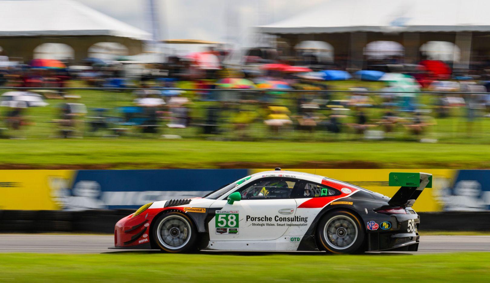 Porsche 911 GT3 R (58), IMSA WeatherTech SportsCar Championship, round 9, Danville/USA, 2018, Porsche AG