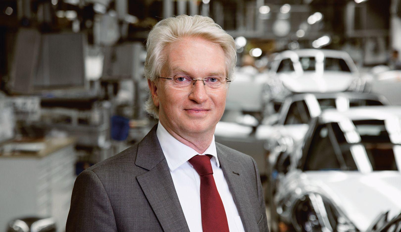 Wolfgang Reiß, Werkleiter Produktion Zuffenhausen, 2015, Porsche AG