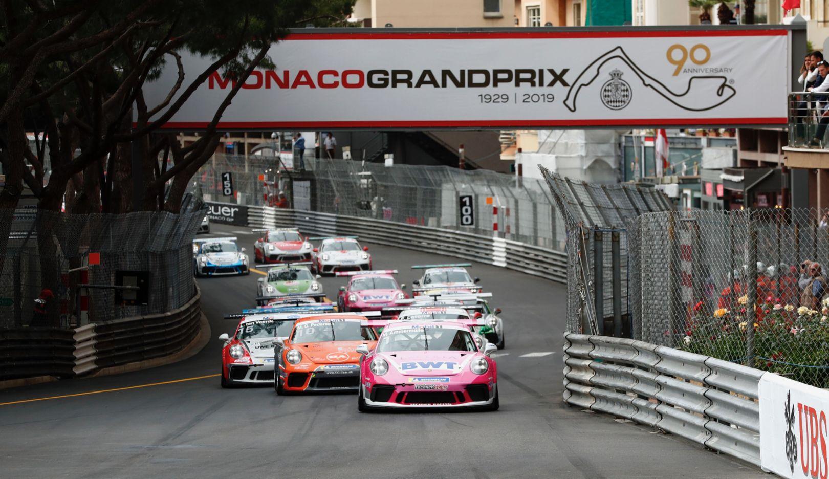 911 GT3 Cup, Porsche Mobil 1 Supercup, race, run 2, Monte Carlo/Monaco, 2019, Porsche AG