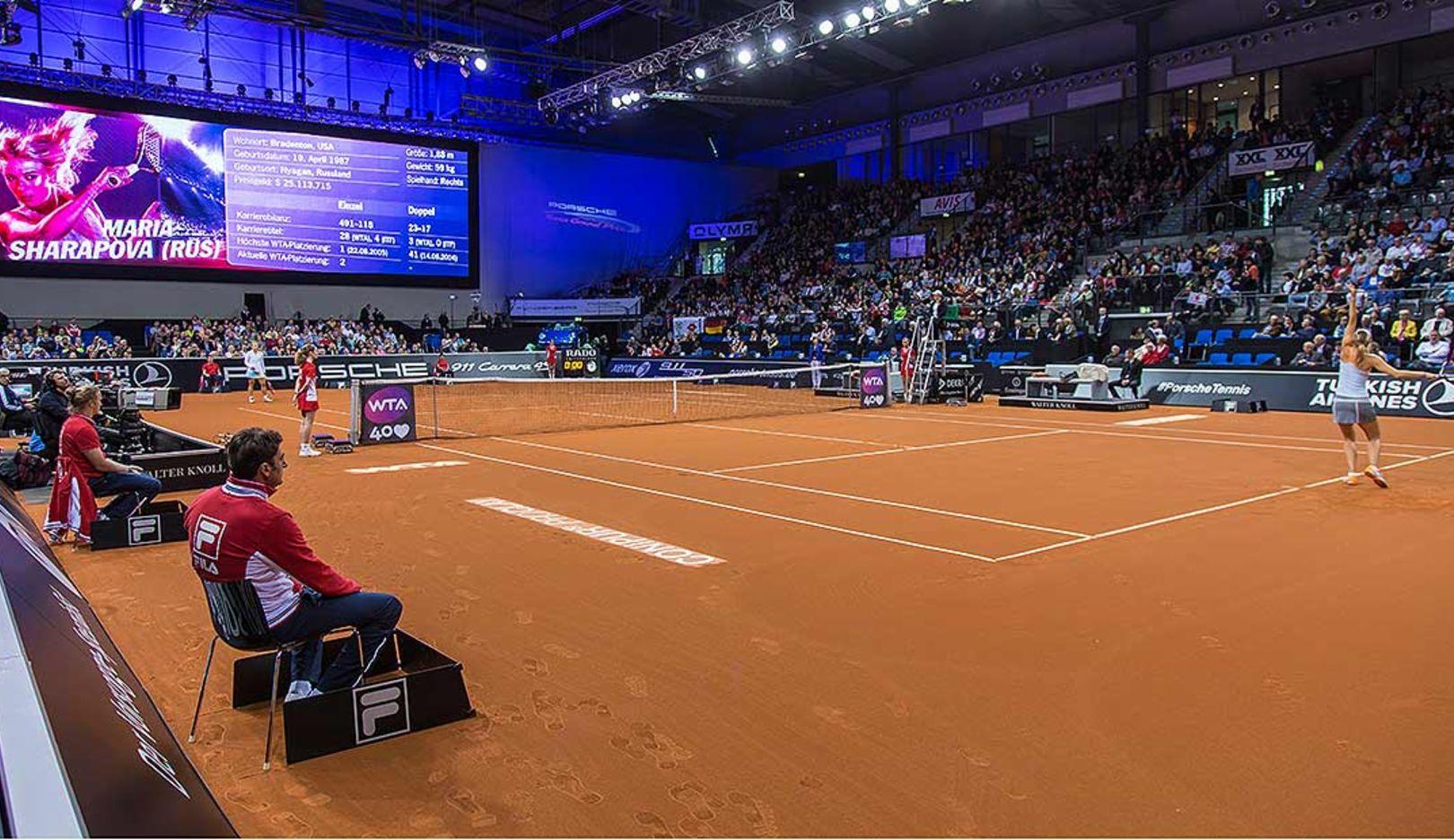 Tennisplatz, Porsche Tennis Grand Prix, Porsche-Arena Stuttgart, 2014, Porsche AG