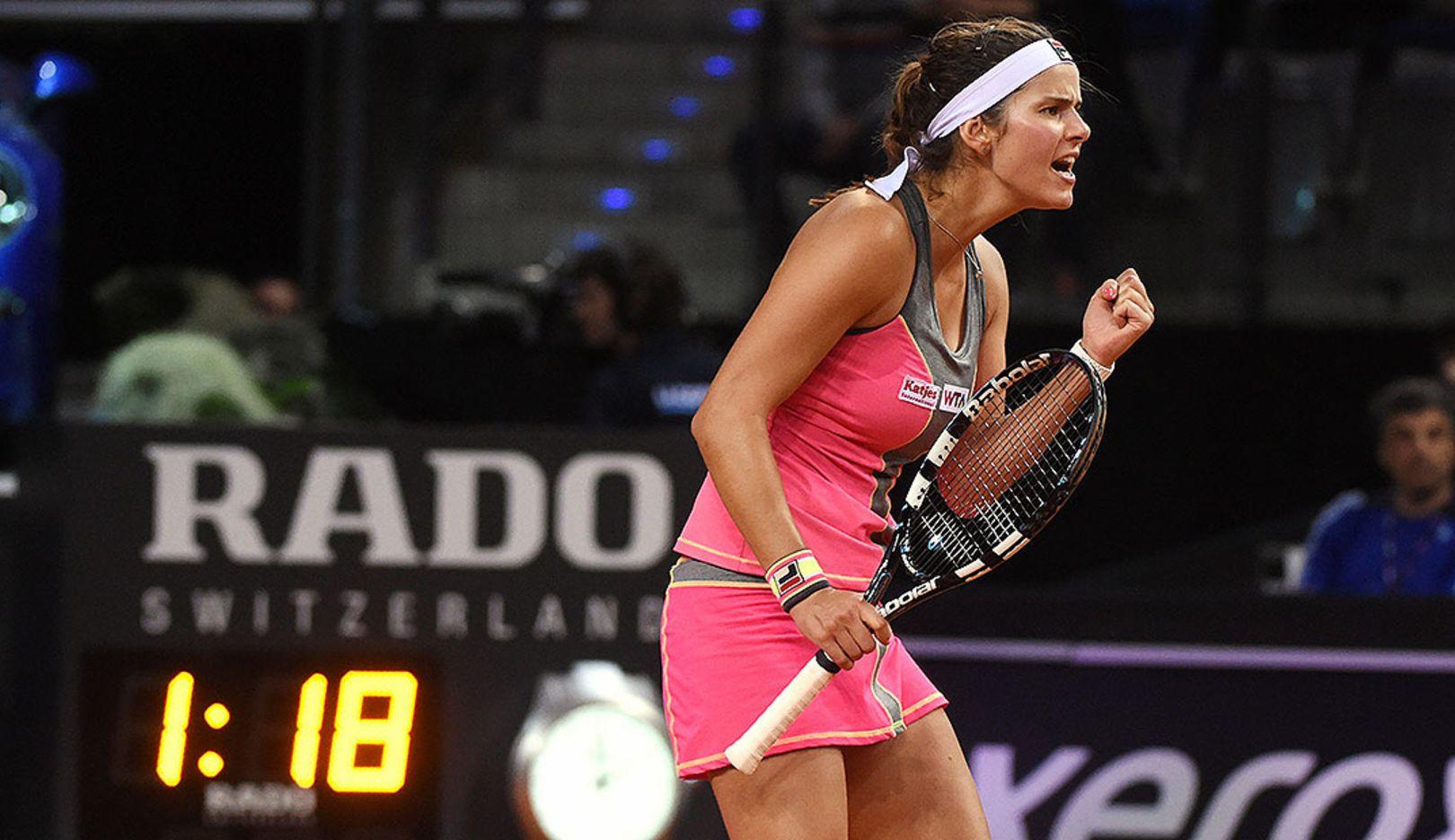 Julia Görges, tennis player Porsche-Team-Deutschland, Porsche Tennis Grand Prix, Porsche-Arena Stuttgart, 2014, Porsche AG