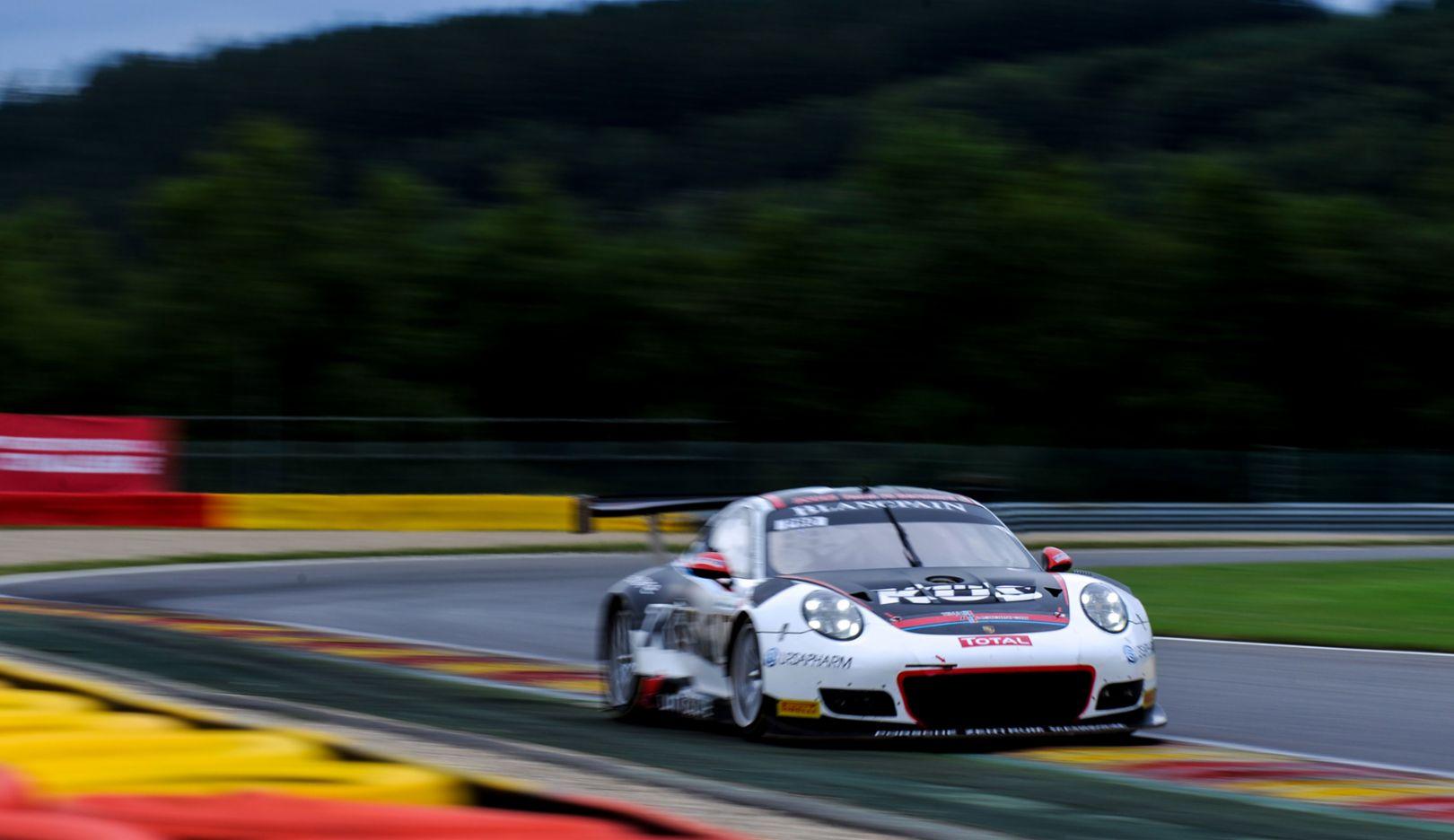 911 GT3 R (117), KÜS Team75 Bernhard, Super Pole, 24 Stunden von Spa, 2017, Porsche AG