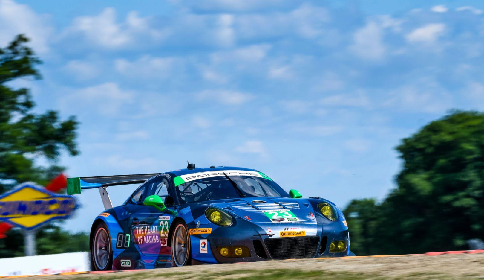 Porsche 911 GT3 R, Watkins Glen, IMSA WeatherTech SportsCar Championship, 2016, Porsche AG
