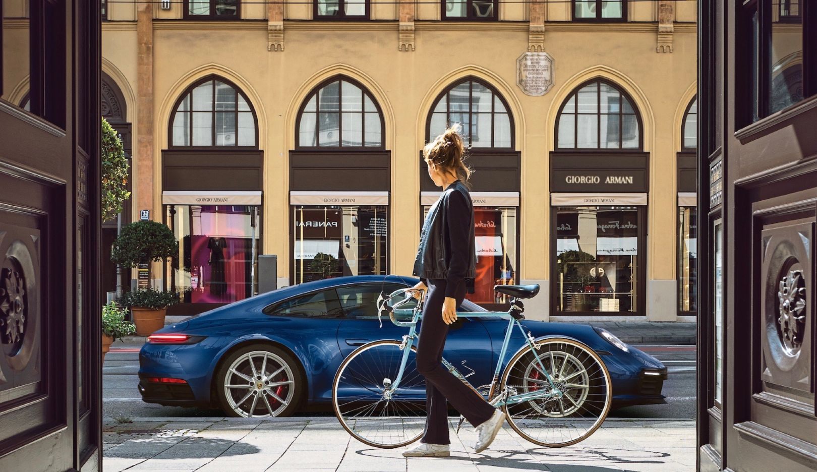 Pedestrian, Porsche 911 (992), Munich, 2018, Porsche AG