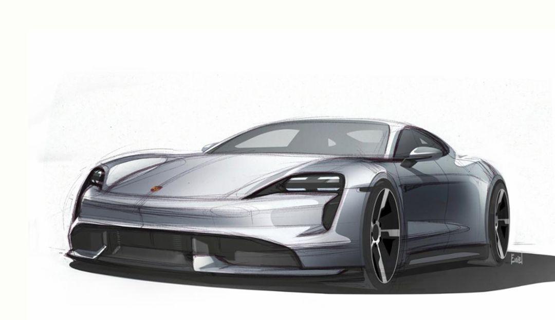 Taycan, exterior sketch, 2019, Porsche AG