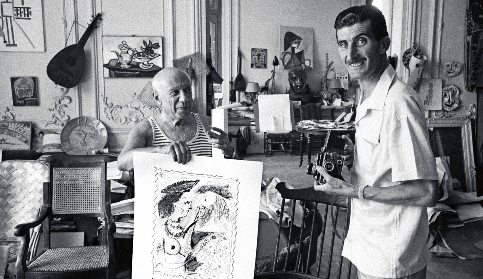 Pablo Picasso, Edward Quinn, (l-r), 1956, Porsche AG