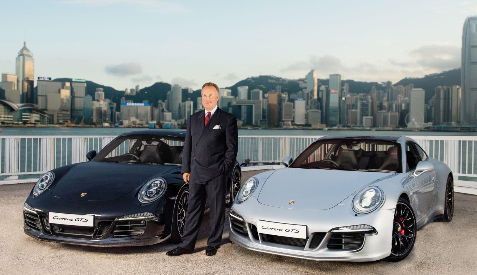Hans Michael Jebsen, Vorstandsvorsitzender Jebsen & Co. Ltd, Skyline Hongkong, 2015, Porsche AG