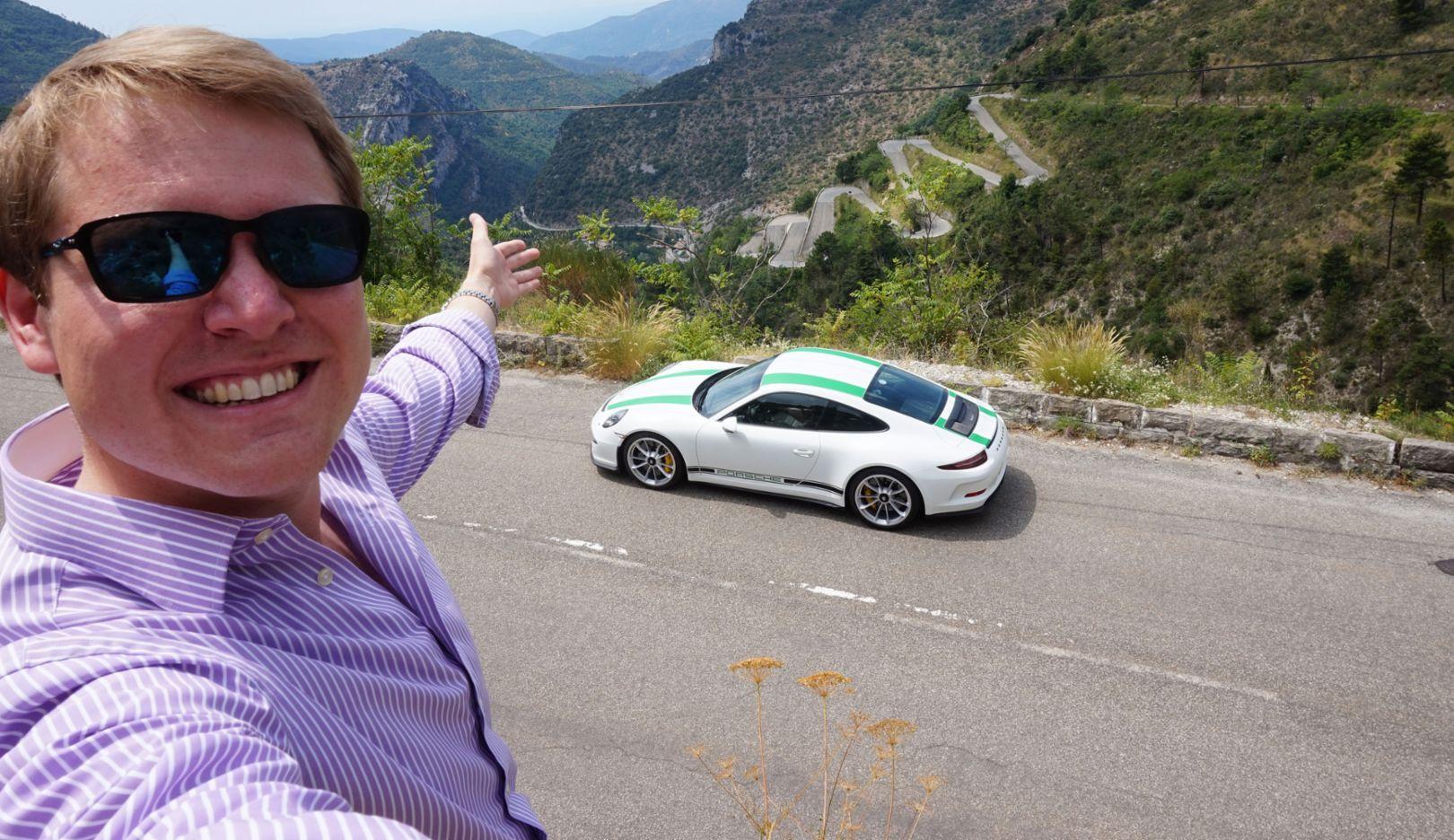 Shmee150, Tim Burton, YouTuber, 911 R, Porsche Ultimate – Drive & Experience, Col de Turini, 2017, Porsche AG