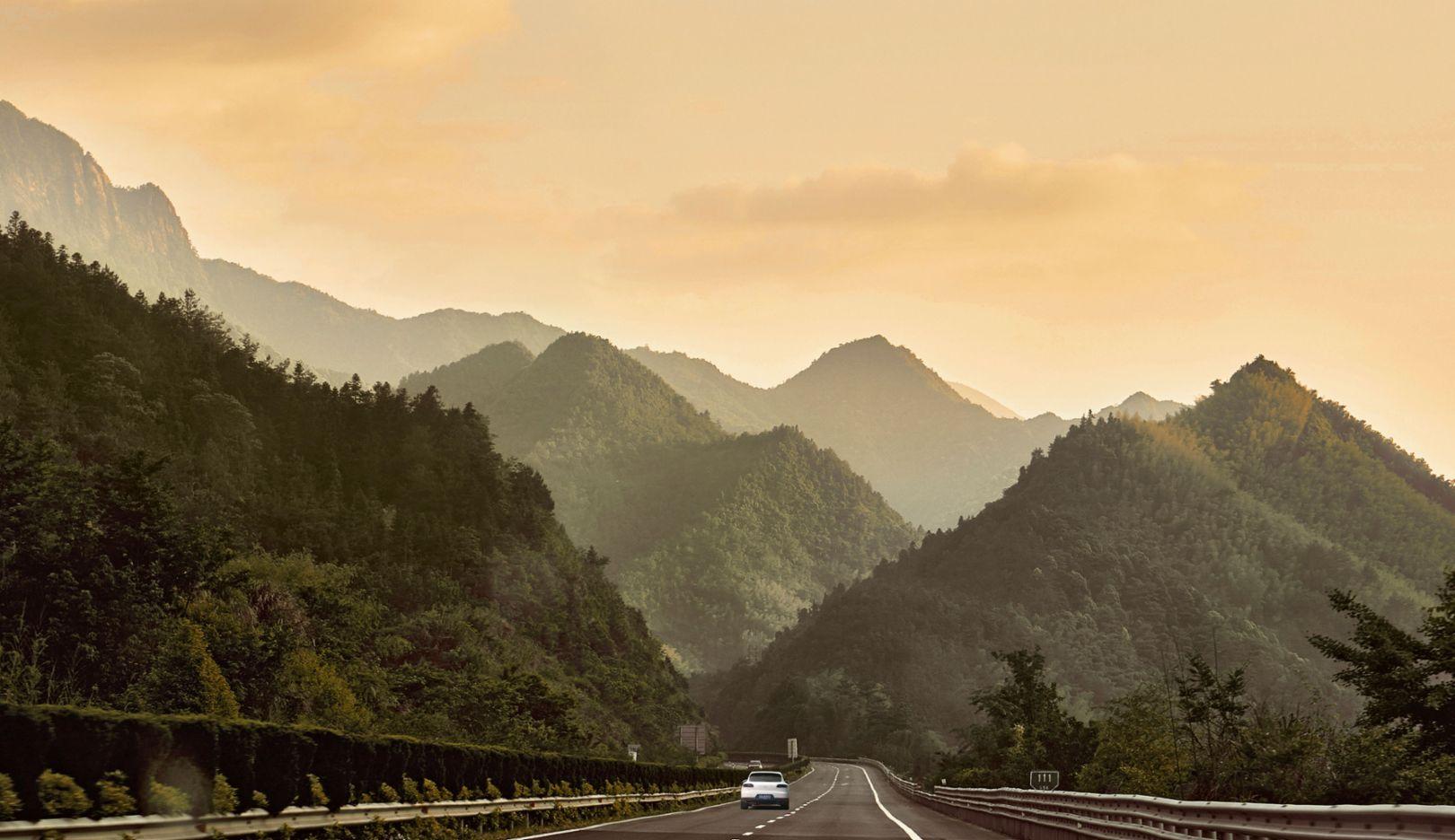 Huangshan-Berge, China, 2017, Porsche AG