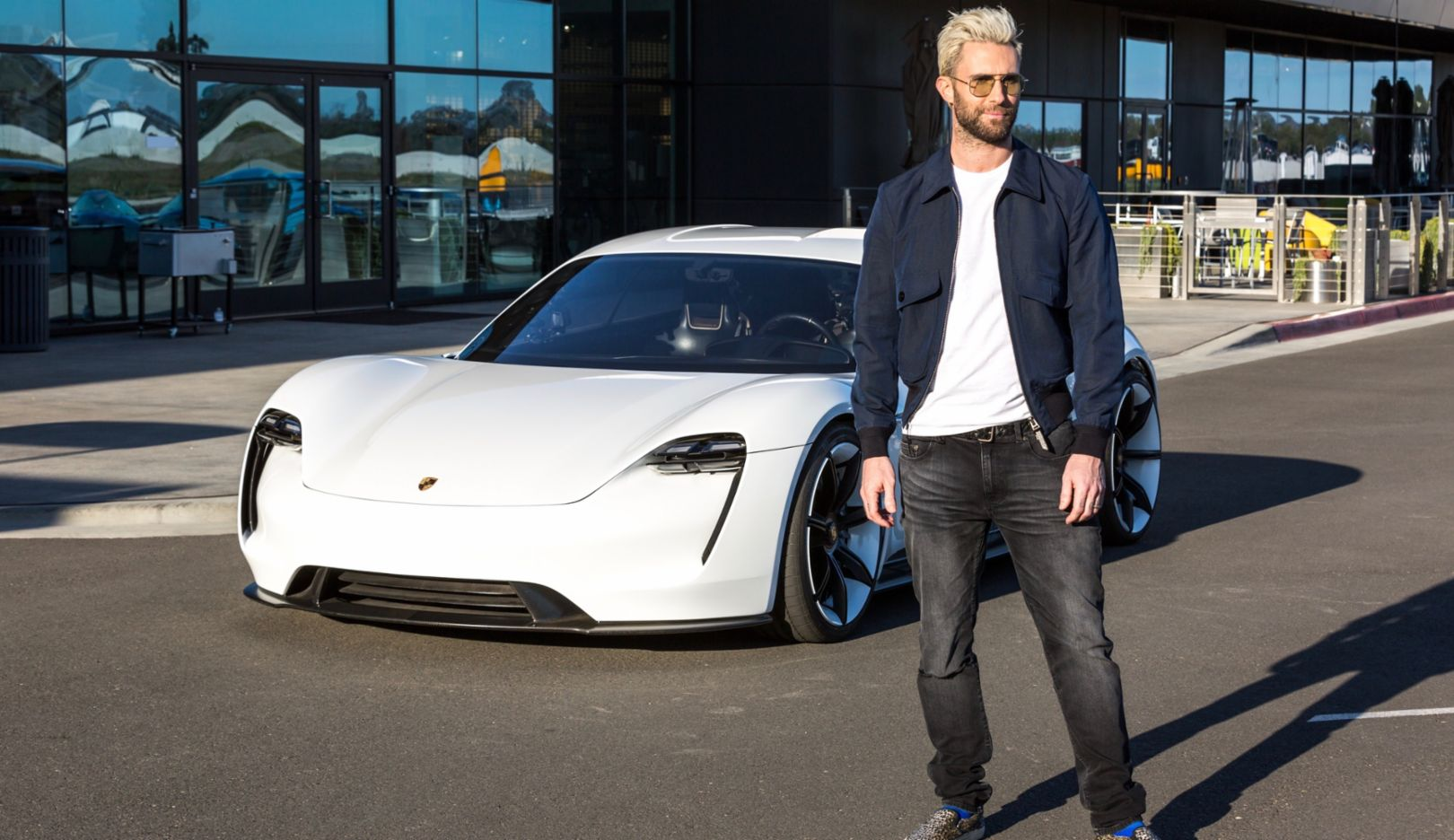 Adam Levine, Mission E, Porsche Experience Center Los Angeles, 2018, Porsche AG
