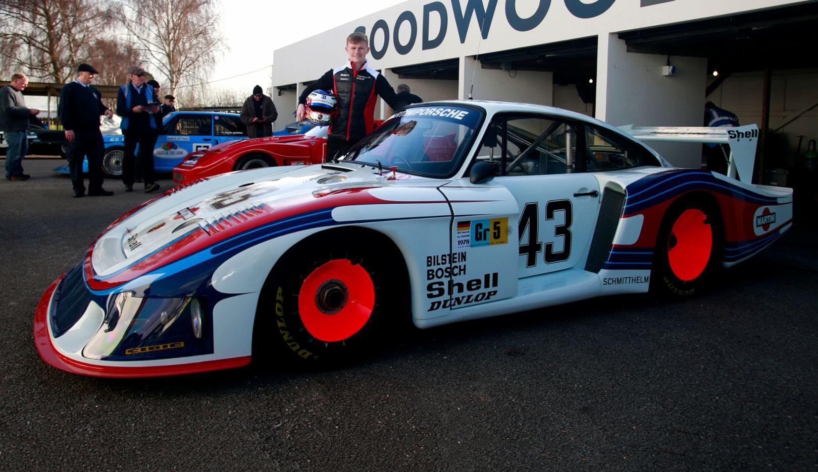 "Dan Harper, Porsche 935/78 ""Moby Dick"", Goodwood Members' Meeting, 2018, Porsche AG"