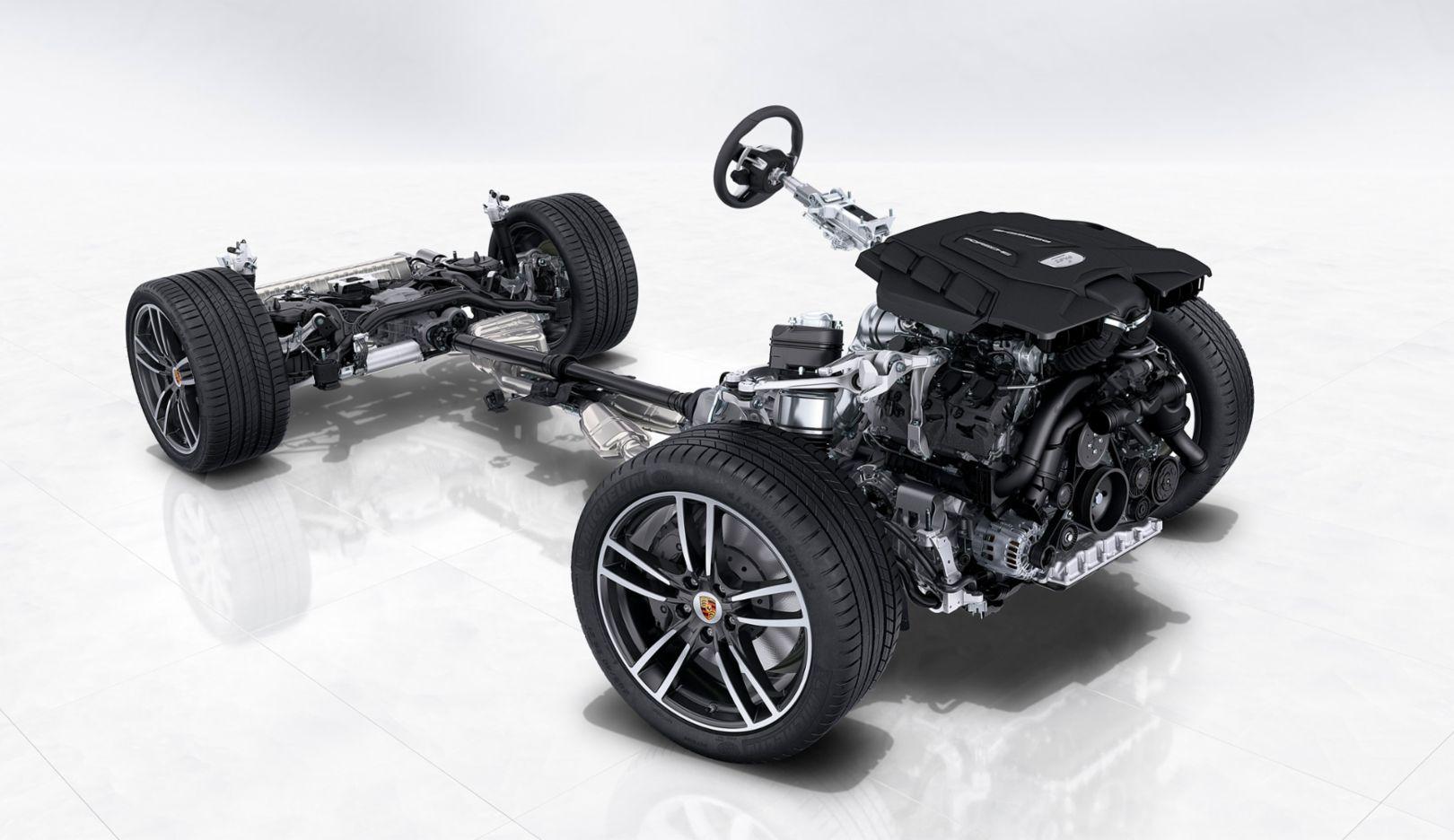 Cayenne, chassis, 2017, Porsche AG