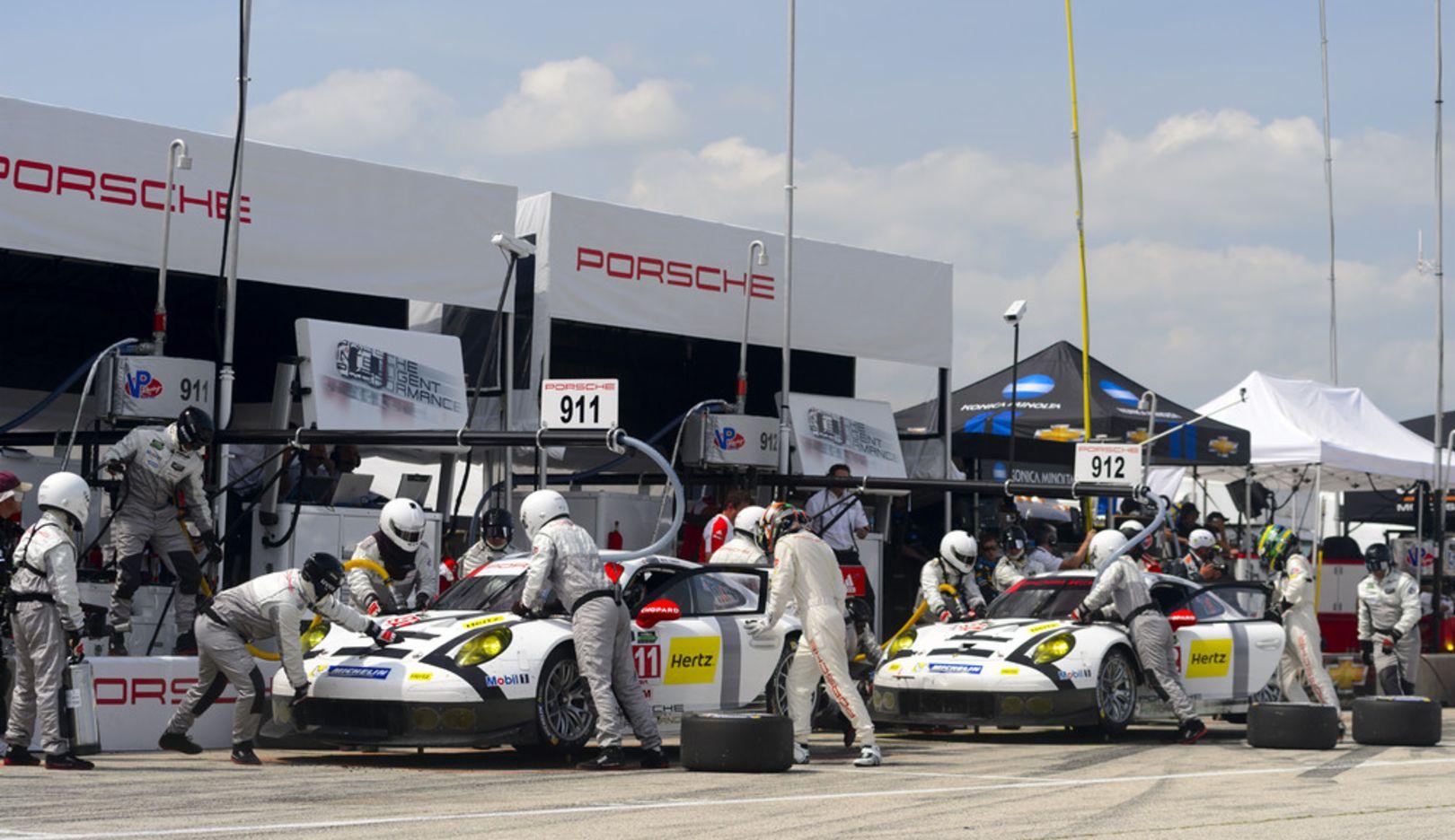 Richard Lietz, Nick Tandy, Patrick Long, Michael Christensen, Werksfahrer, 911 RSR, Porsche 911 RSR,  Tudor SportsCar Championship, 2014, Porsche AG
