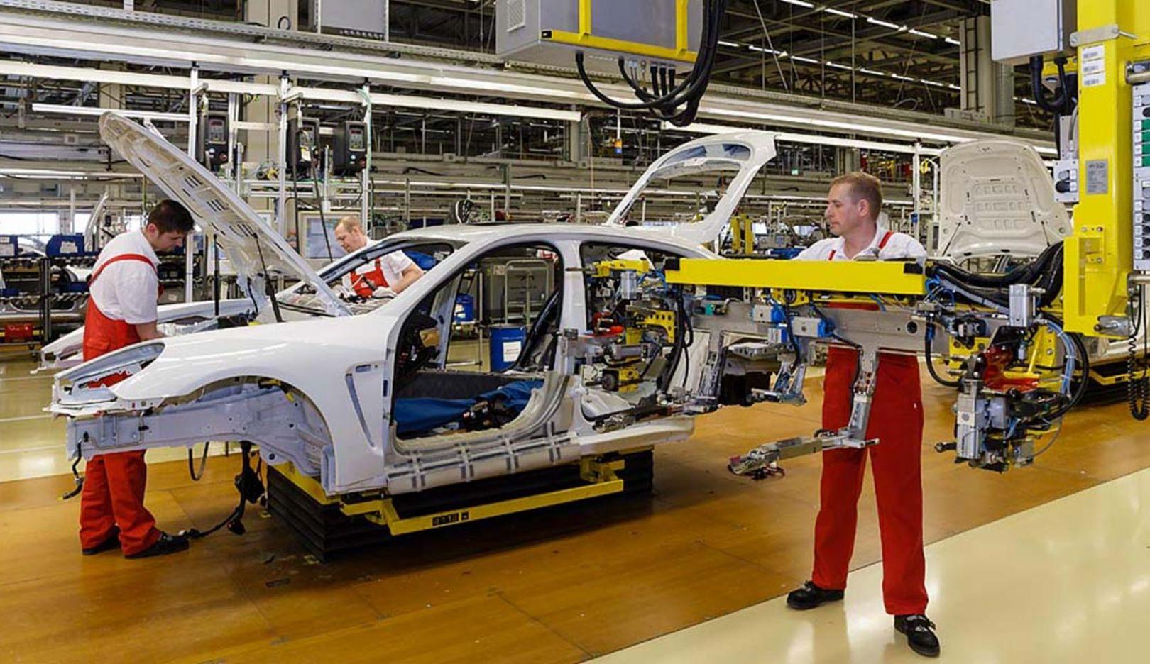 Panamera production, plant Leipzig, 2014, Porsche AG