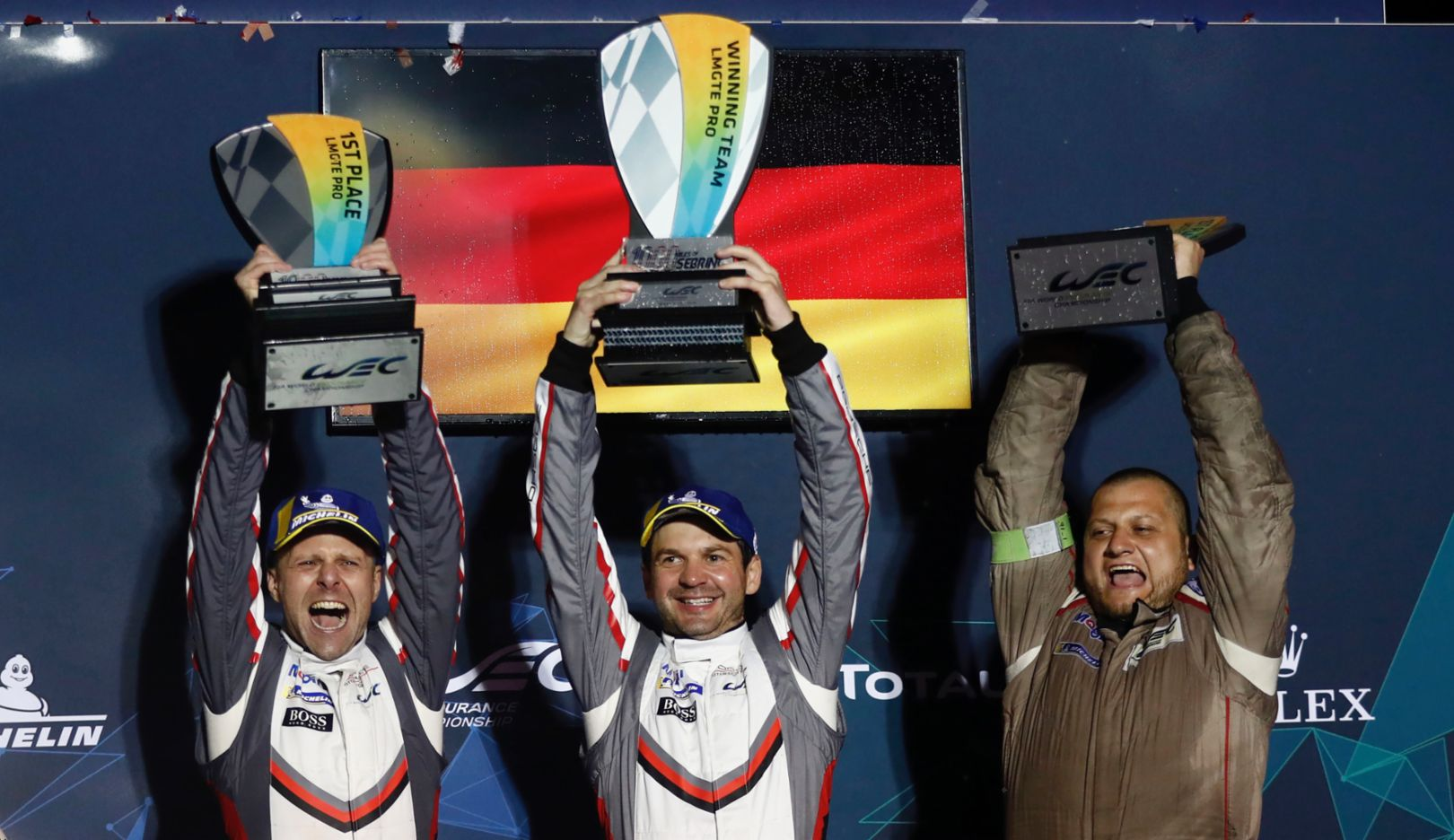 Gianmaria Bruni, Richard Lietz, l-r, Porsche GT Team, race, round six, WEC, Sebring, 2019, Porsche AG