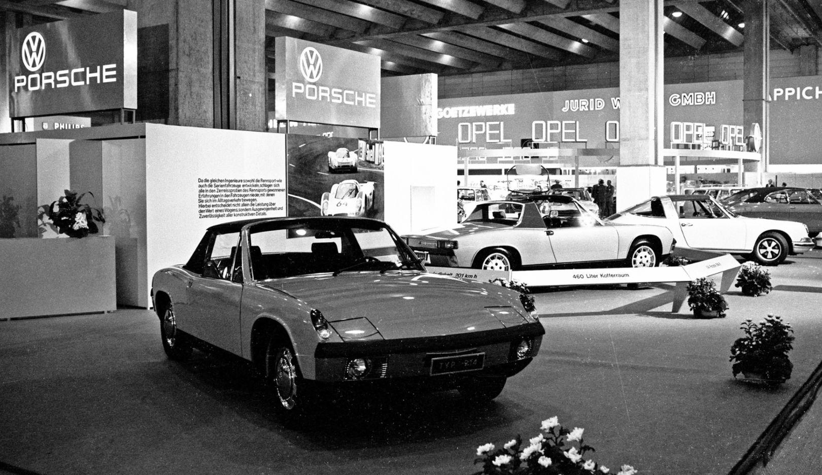 Porsche 914/4, Porsche 914/6, l-r, International Motor Show, Frankfurt, 1969, Porsche AG