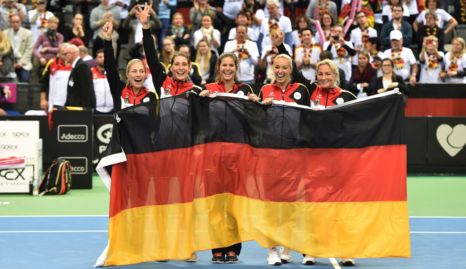 Porsche Team Germany, Fed-Cup-semi-final, Stuttgart, 2015, Porsche AG