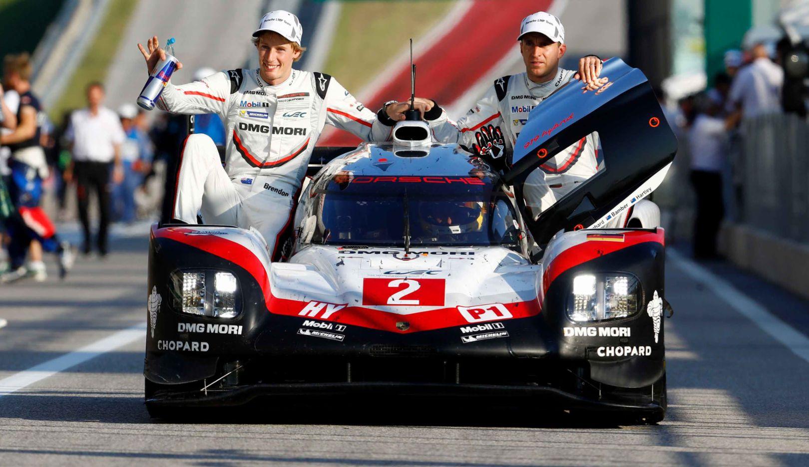 Brendon Hartley, Earl Bamber, Timo Bernhard, 919 Hybrid, WEC, Rennen, Austin, 2017, Porsche AG