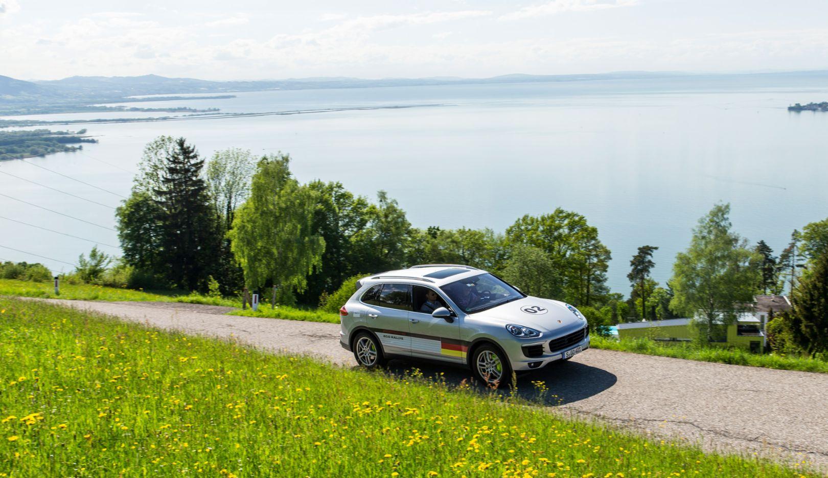 Cayenne S E-Hybrid, Eco Rallye Lake Constance, 2015, Porsche AG
