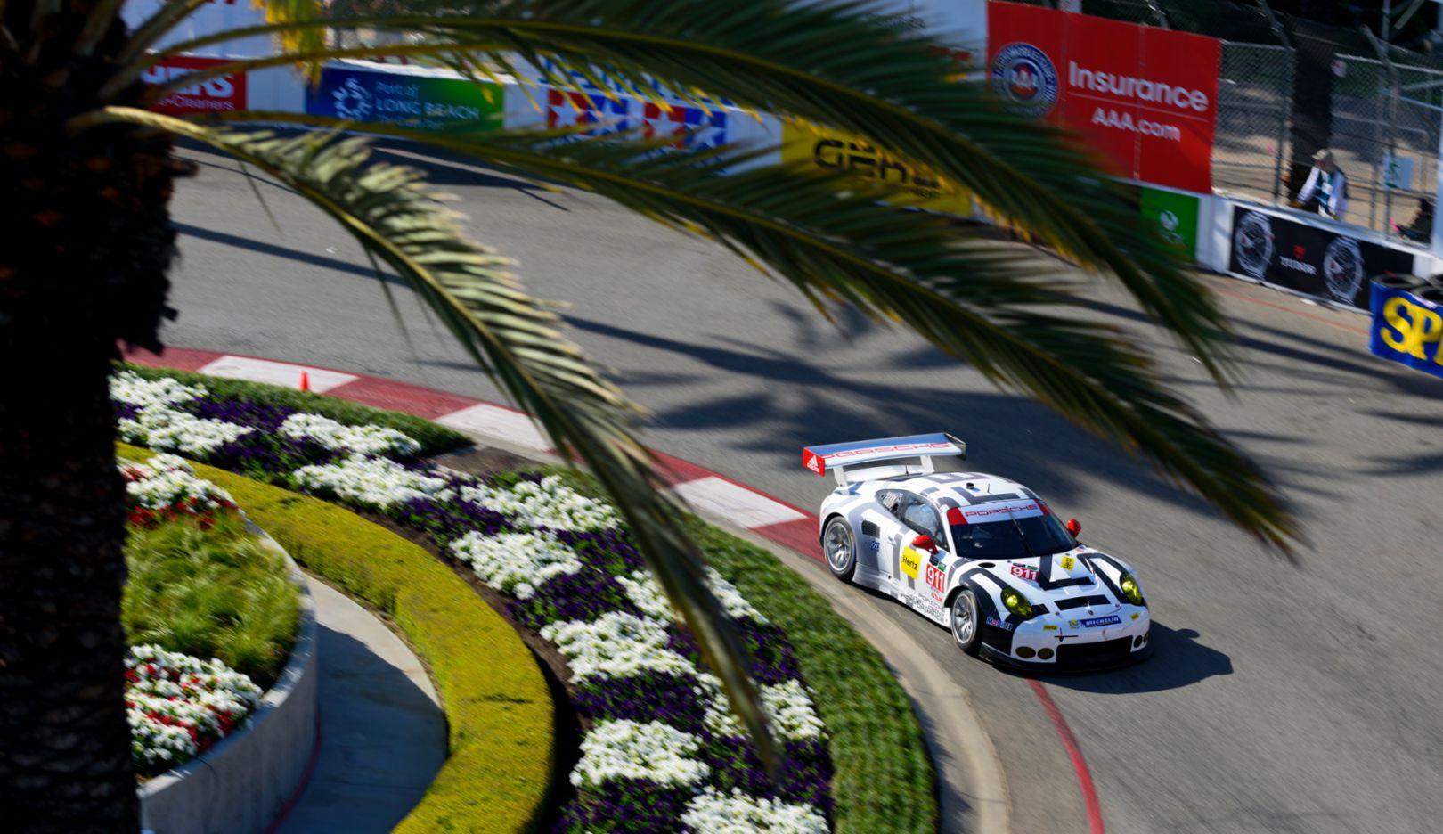 Porsche 911 RSR, Porsche North America, Tudor United SportsCar Championship, USA/Long Beach, 18.04.2015, Porsche AG