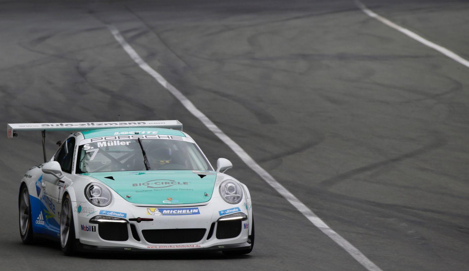 Sven Müller, winner, Porsche Carrera Cup Deutschland, Race 10, Norisring, 2016, Porsche AG