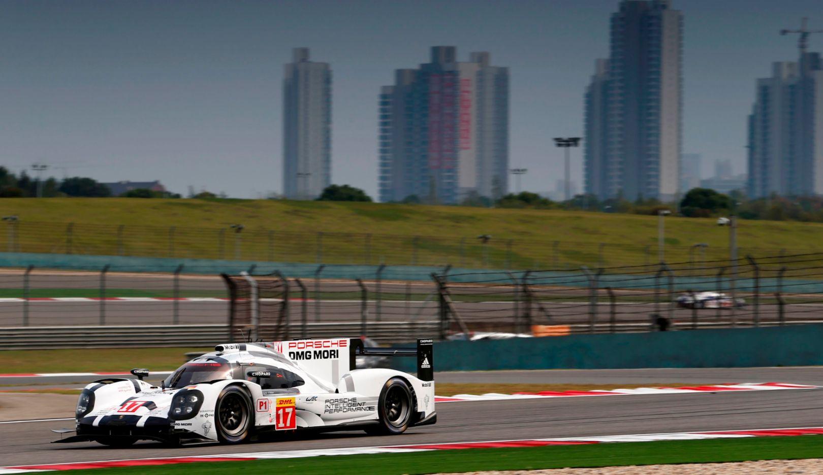 Porsche 919 Hybrid, Porsche Team: Timo Bernhard, Brendon Hartley, Mark Webber, WEC Shanghai 2015, Porsche AG