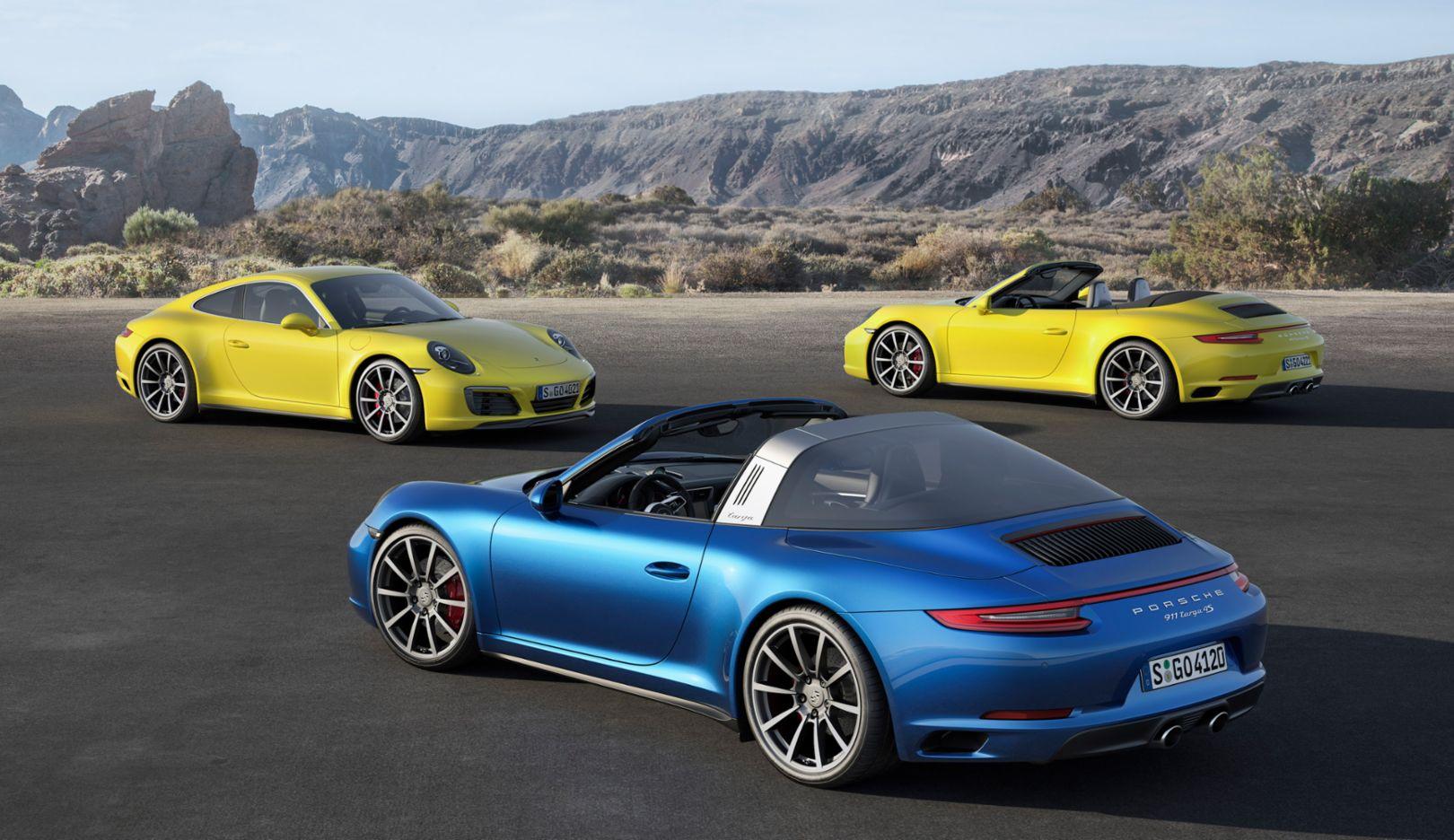911 Carrera 4, 911 Carrera 4 Cabriolet, 911 Targa 4S, 2015, Porsche AG