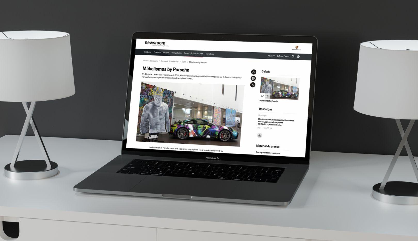Porsche Newsroom en español - El mundo Porsche a un solo clic, 2019, Porsche Ibérica