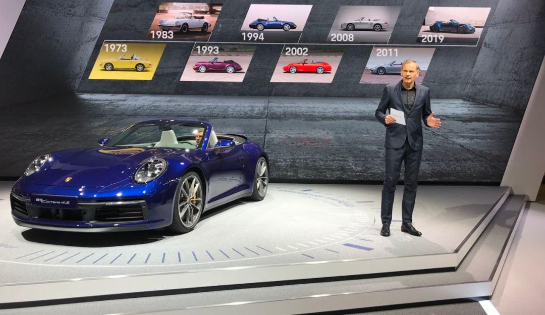 Oliver Blume, 911 Cabriolet, Geneva International Motor Show 2019, Porsche AG