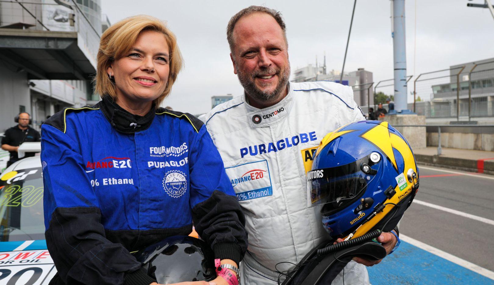 Julia Klöckner, Federal Minister, Smudo, Rapper, 911 GT3 Cup, Nürburgring, 2018, Porsche AG