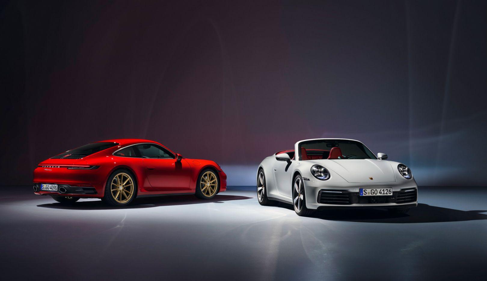 911 Carrera, 911 Carrera Cabriolet (i - d), 2019, Porsche AG