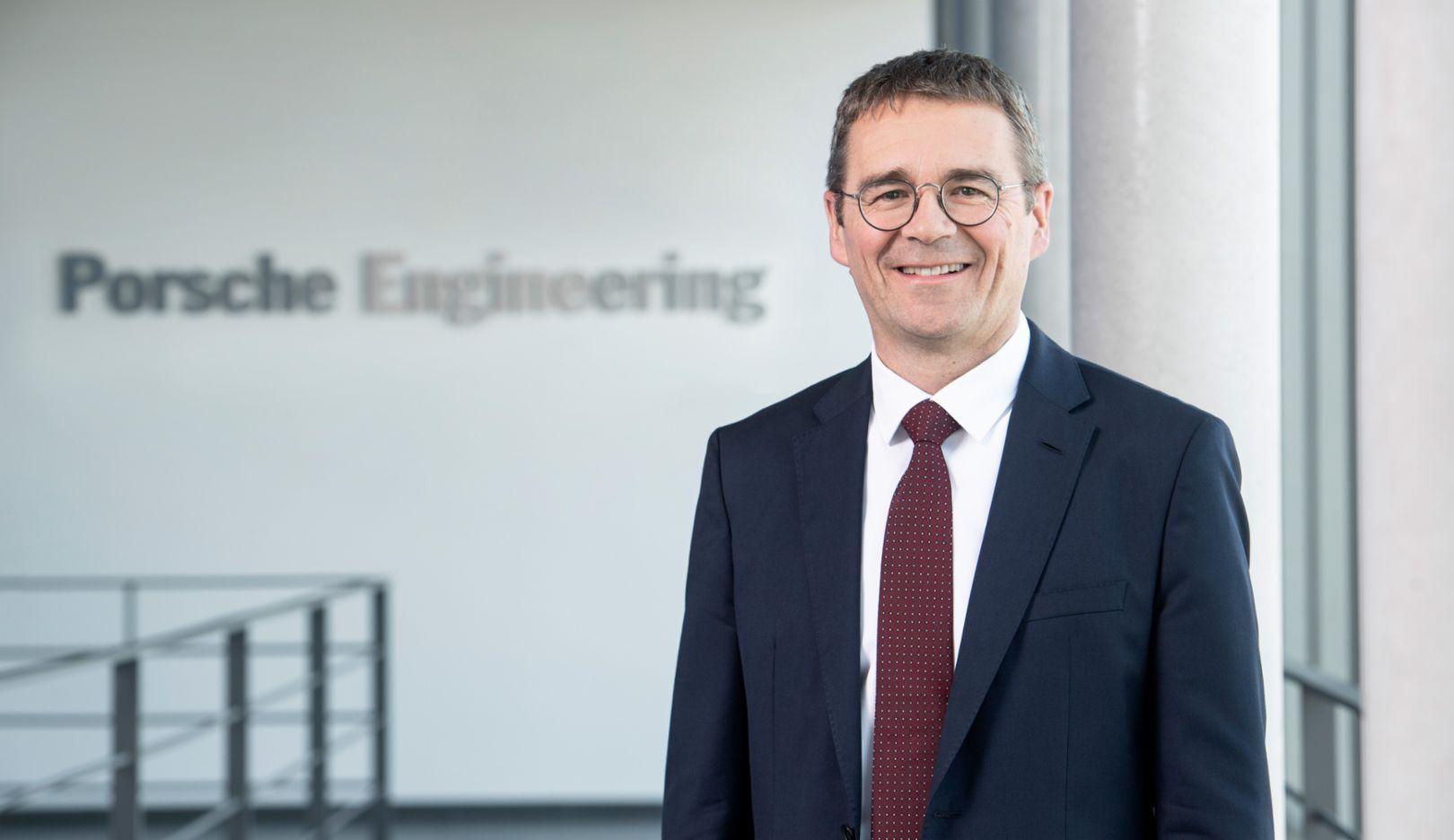 Dr. Peter Schäfer, Vorsitzender der Geschäftsführung bei Porsche Engineering, 2019 Porsche AG