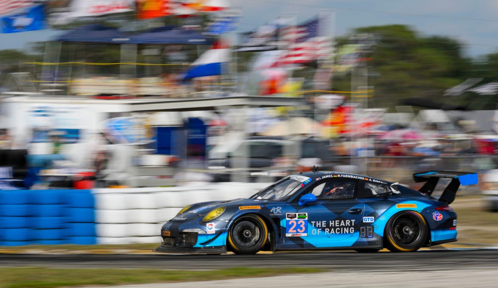 Porsche 911 GT America, Alex Job Racing, Mario Farnbacher, Ian James, Alex Riberas, Sebring 2015, Porsche AG