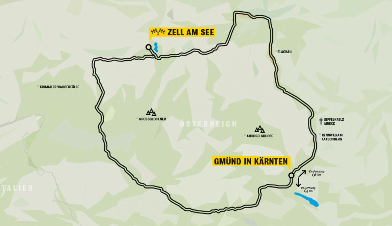 Strecke, Porsche Werk Gmünd, Zell am See, Porsche AG