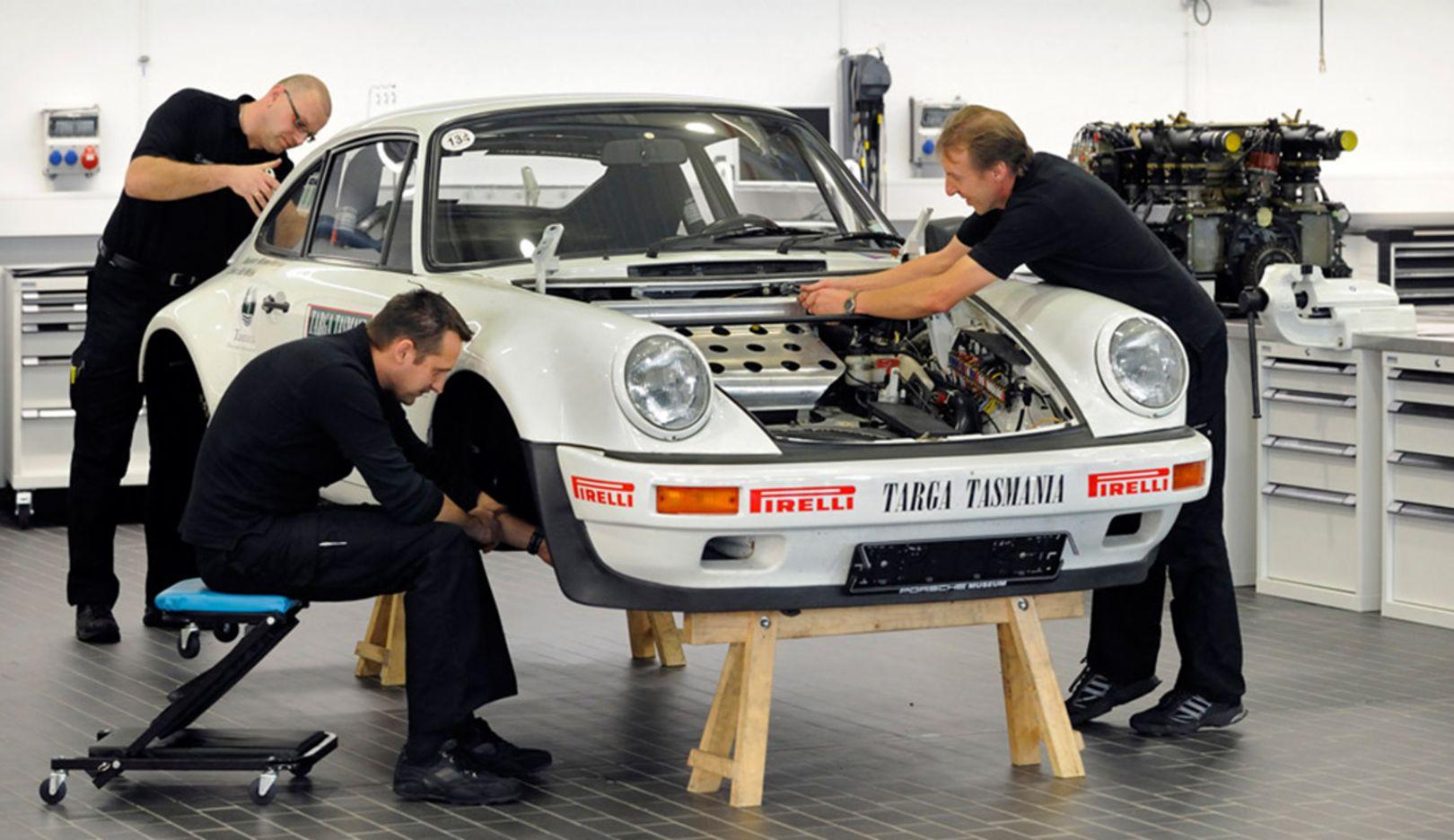 Werkstatt, Porsche-Museum, 2014, Porsche AG