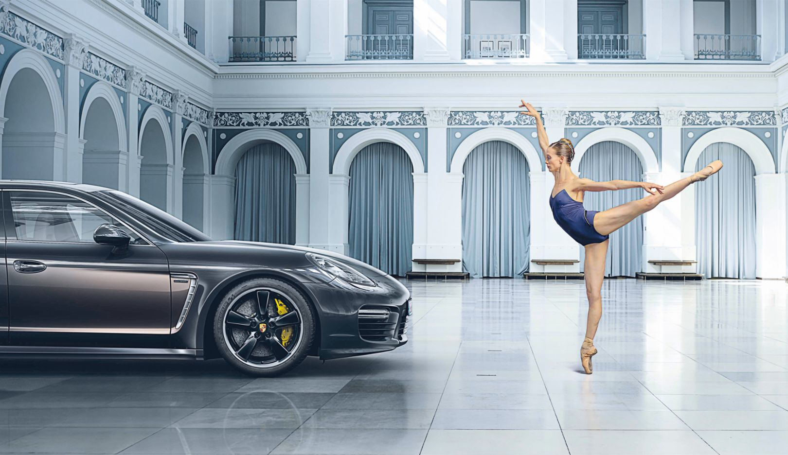 Advert, Ballerina Alicia Amatriain, Panamera Turbo S Exclusive Series, Porsche AG
