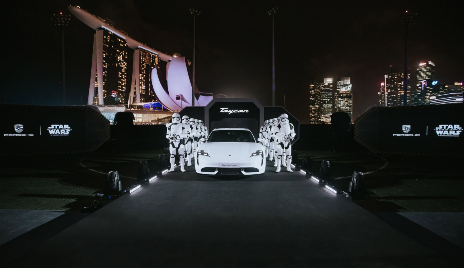 Porsche x Star Wars: Joining forces for the reveal of the Taycan in Singapore