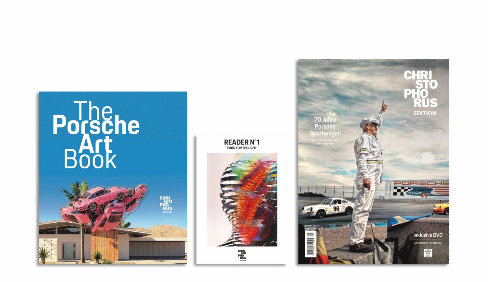 The Porsche Art Book, Reader No.1 – Food for Thought, Christophorus Edition, l-r, 2018, Porsche AG