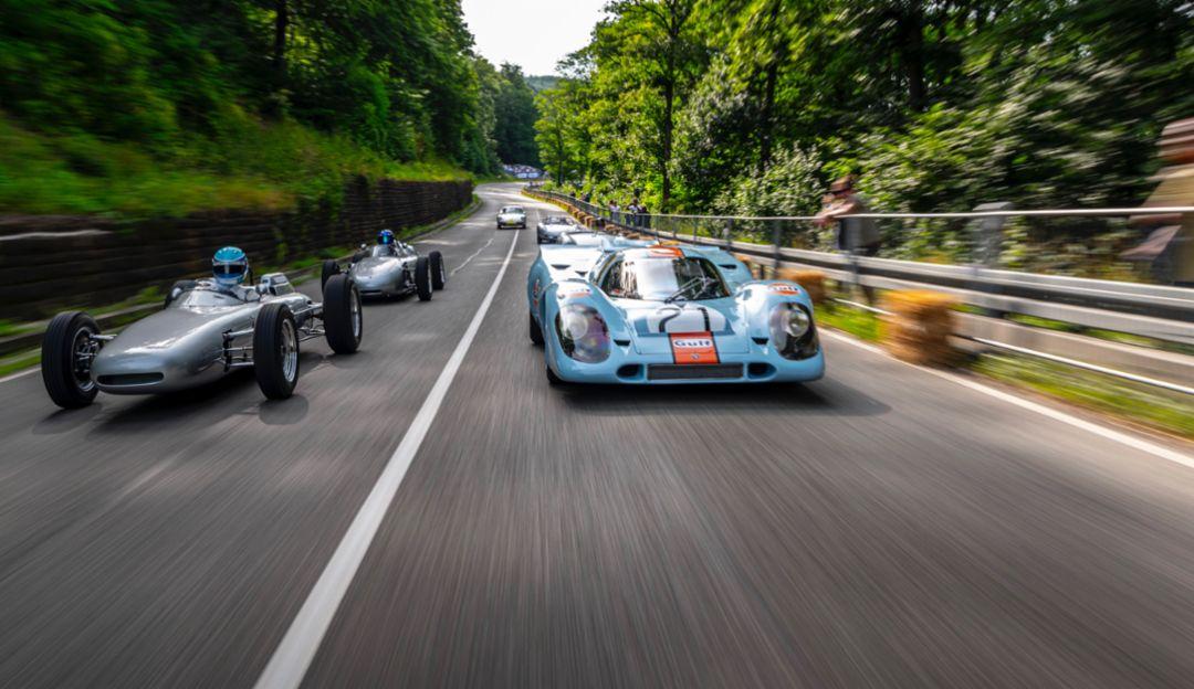 Porsche 804, Porsche 917, l-r, Solitude Revival, 2019, Porsche AG