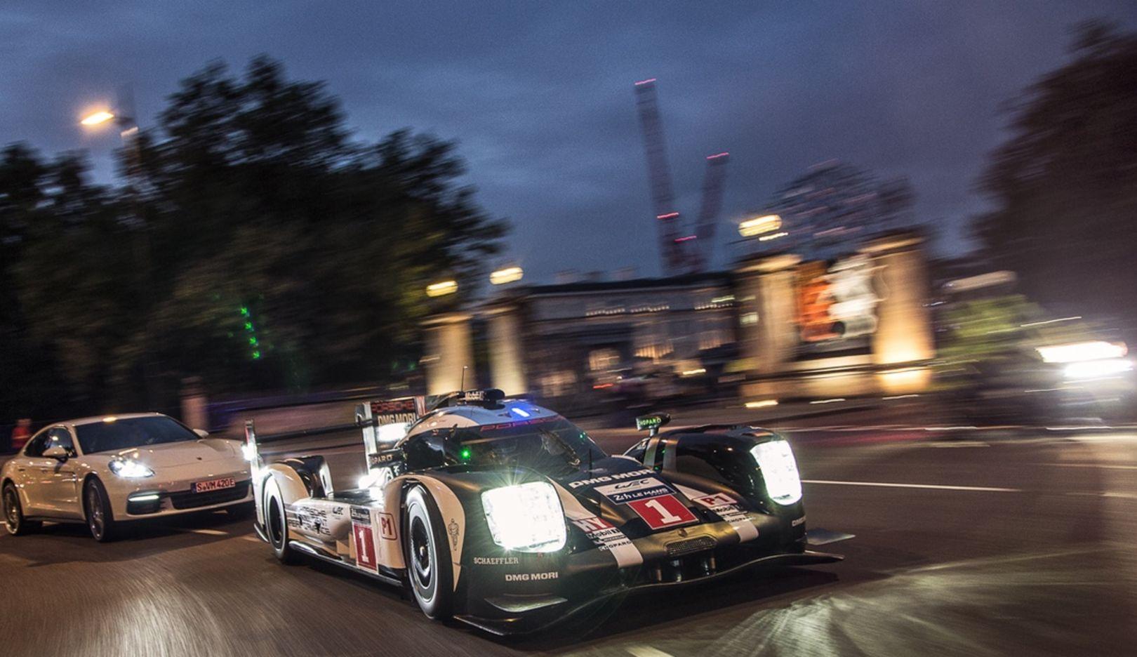 919 Hybrid, Panamera 4 E-Hybrid, London, 2016, Porsche AG