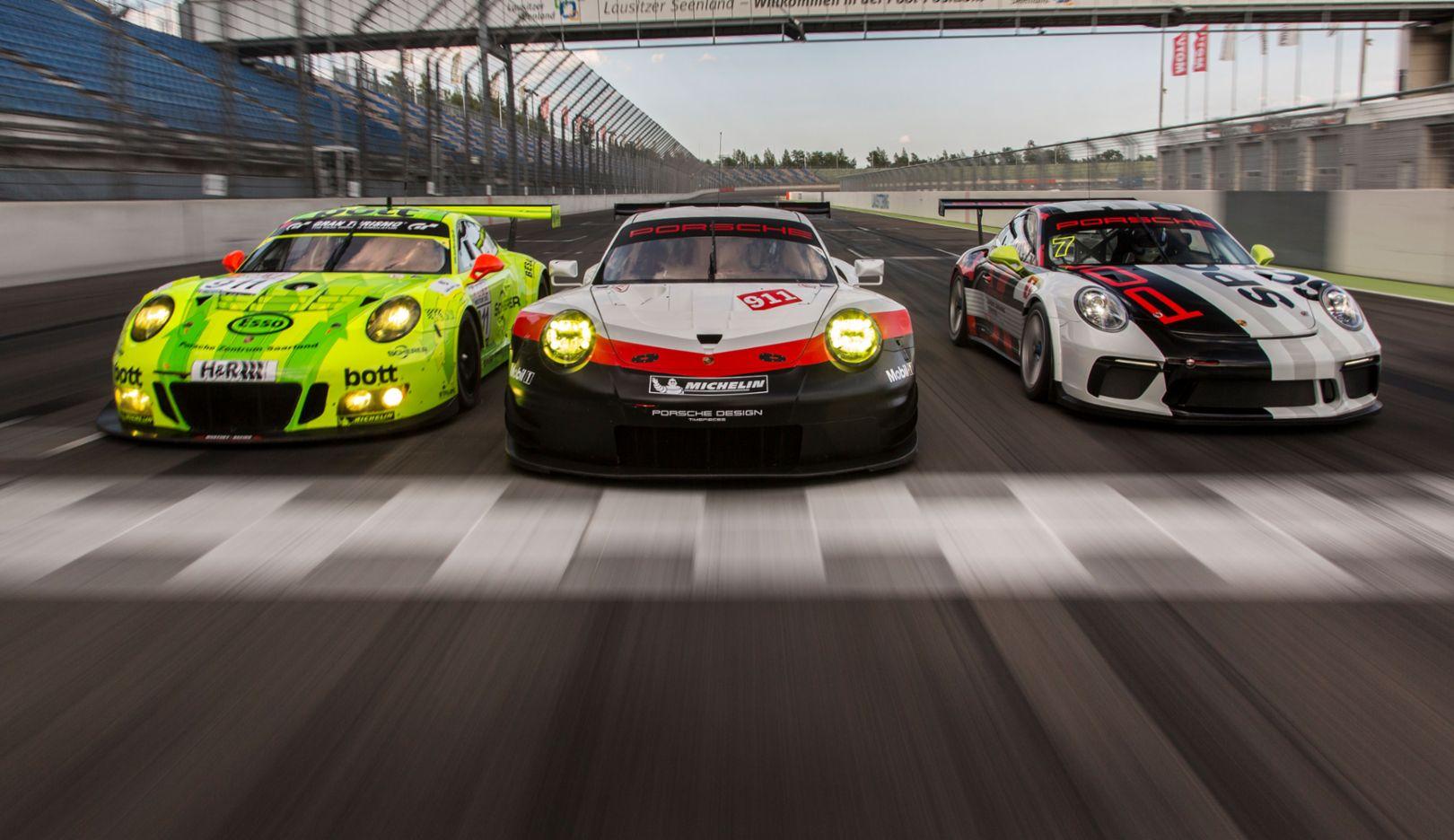 911 GT3 R, 911 RSR, 911 GT3, Porsche Motorsport Tracktest, 2017, Posche AG