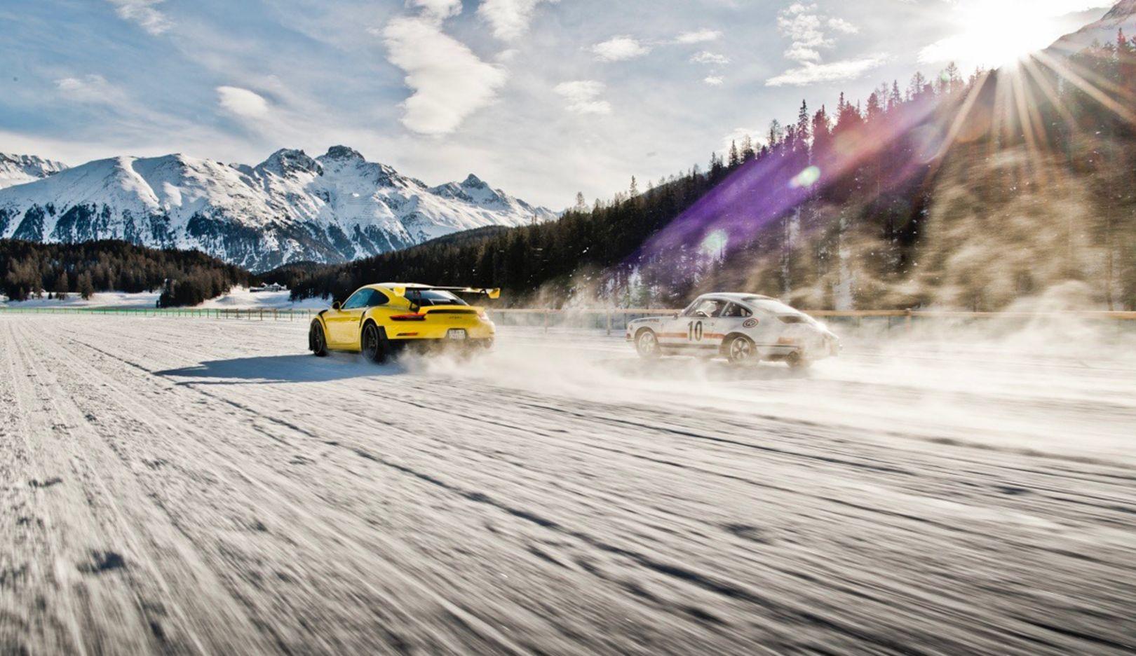 911 GT2 RS, 911 ST, l-r, St. Moritz, 2018, Porsche AG