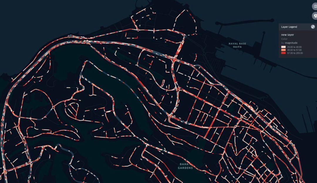 Straßenerfassung mit taktilen Daten.