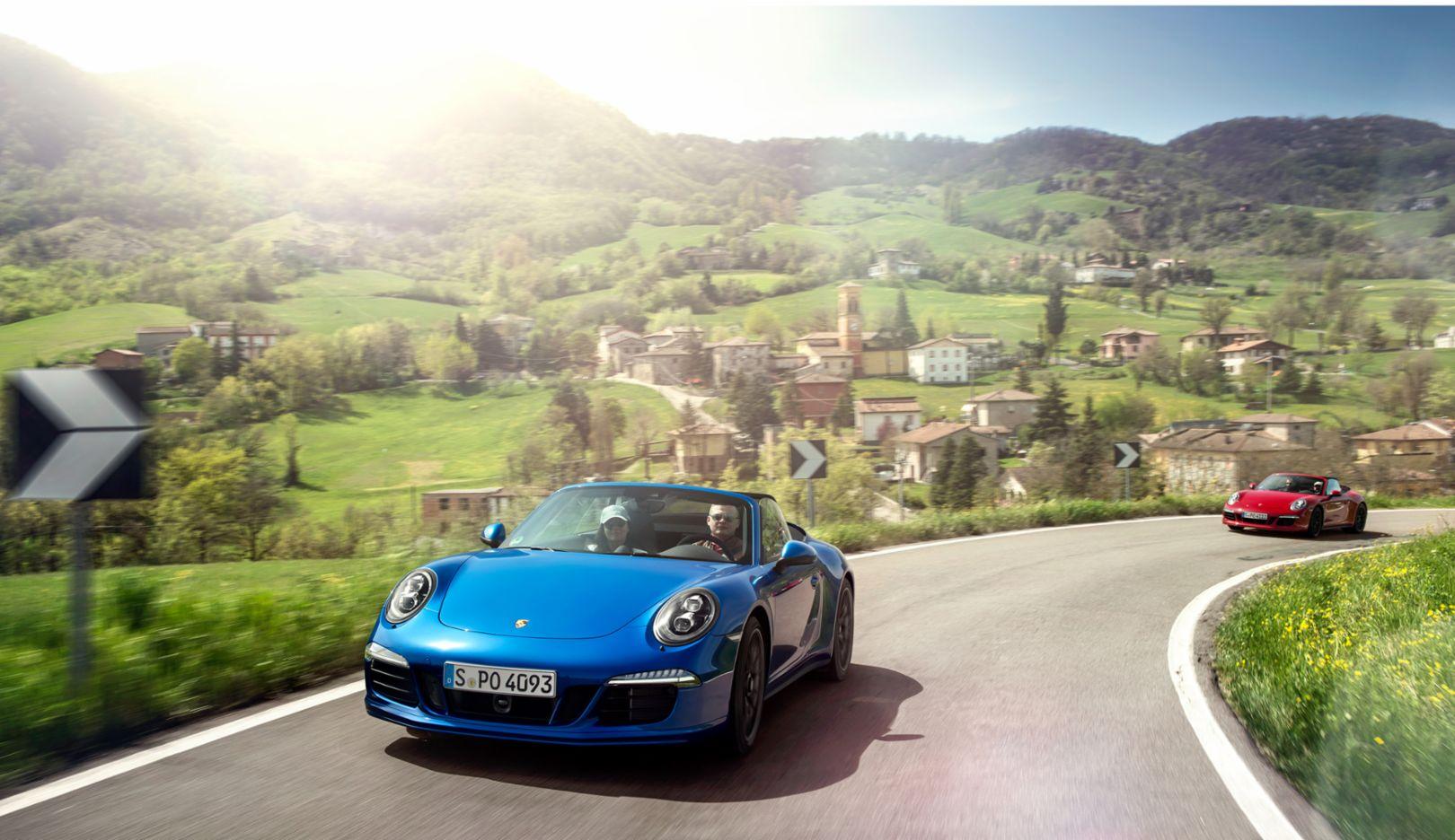 911 Carrera GTS Cabriolet, Porsche Travel Club, Tuscany, 2015, Porsche AG