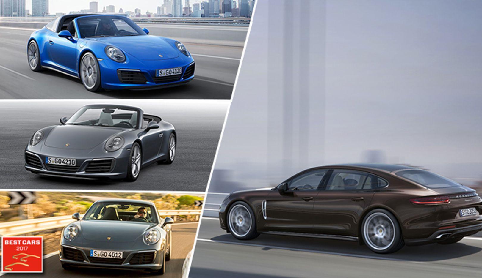 Best Cars 2017: 911 Targa 4S, 911 Carrera Cabriolet, 911 Carrera, Panamera 4 Executive, Porsche AG